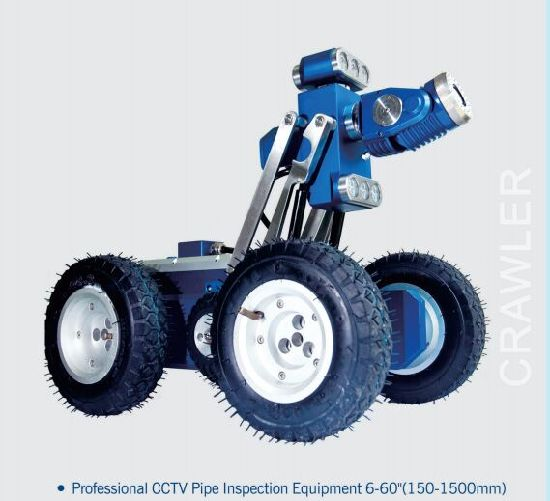 CCTV Pipeline Inspection System with Robot Crawler Camera, 8 Inches, Cable Wheel 150m