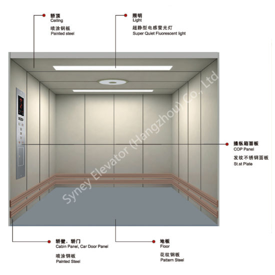 Competitive Price of Freight Elevator with Large Space and High Load (XNH-001)