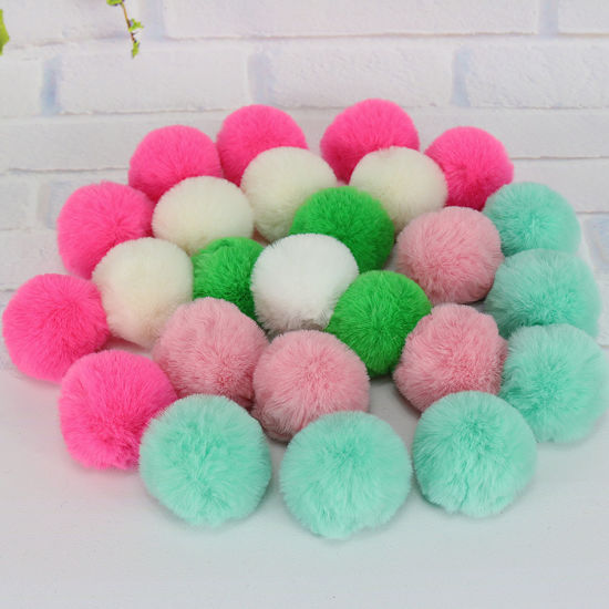 Wholesale Colorful Rabbit Fur Pompom 4-5cm Fox Fur Ball POM POM for Women Winter Hat and Cap pictures & photos