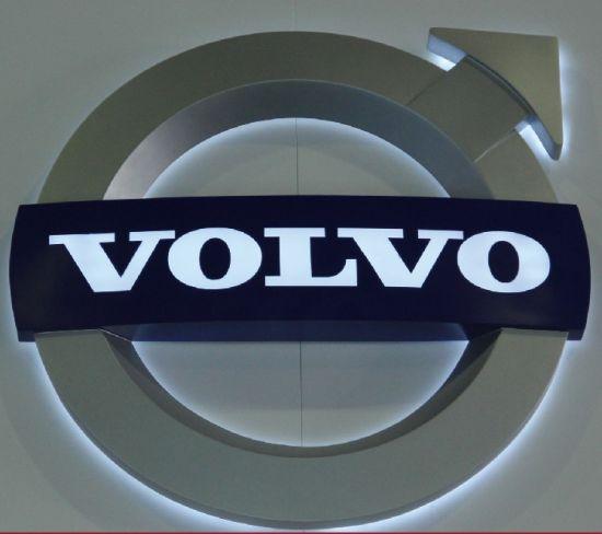 China Custom PVC Material /Plastic LED Car Logo Signage