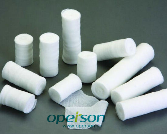 Disposable Medical Gauze Roll with Various Sizes pictures & photos
