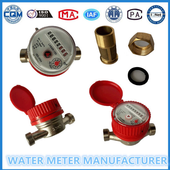 Brass Single Jet Dry Dial Type Mechanical Cold/Hot Water Meter pictures & photos