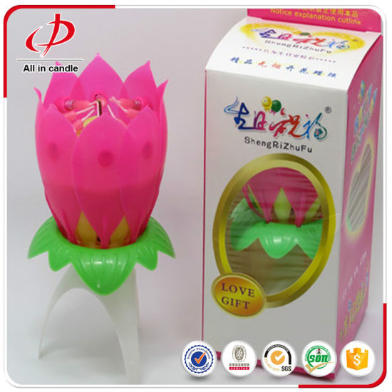 The Most Popular Magic Lotus Cake Birthday Candle pictures & photos
