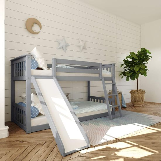 Twin Wood Bunk Bed Frame With Ladder For Boys Girls Kids And Young Teens China Bunk Bed Wooden Bed Made In China Com