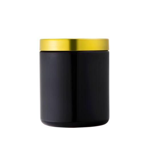 32oz Plastic Black Soft-Touch Matte Sports Supplements Powder Packging Plastic Jars