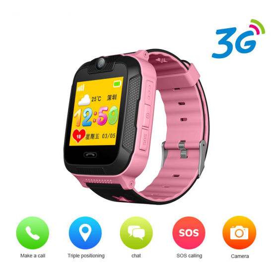 Android 4.2 Cute 3G SIM Card GPS Sos Dial Call Camera Baby Kids Smart Tracking Watch pictures & photos