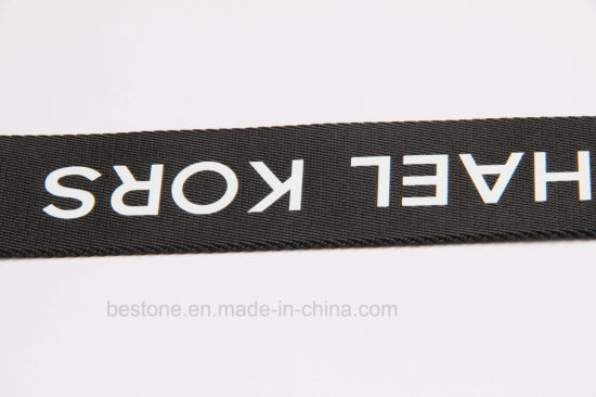 5e52ee3e3 Nylon Webbing with Printed Logo for Bag and Garment Accessories