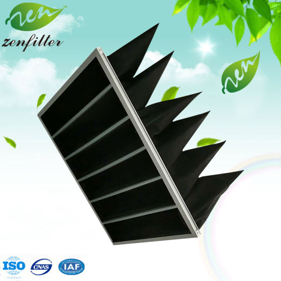 Activated Carbon Pocket Air Filter for Clean Room