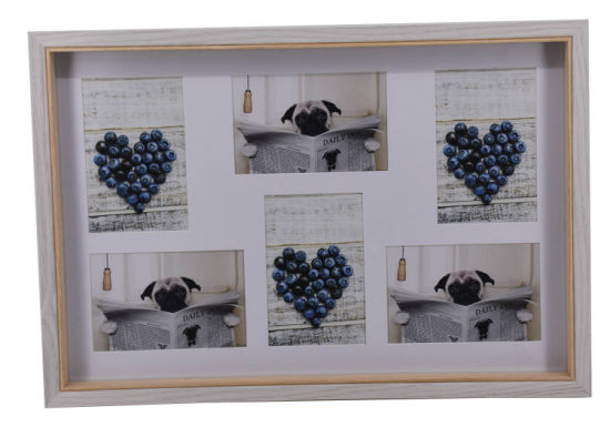 Modern Style MDF Wrapped Large Frame with Multi Openings for Wall Decoration