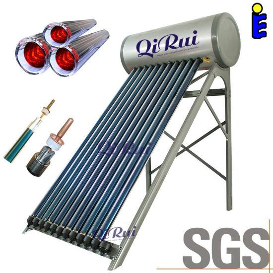 Solar Keymark En12976 Certified 110liter 160liter 180liter 215liter 265liter High Pressure Solar Water Heater for Chile