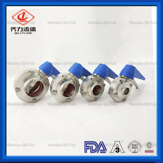 Sanitary Squeeze Trigger Tri-Clover Butterfly Valve
