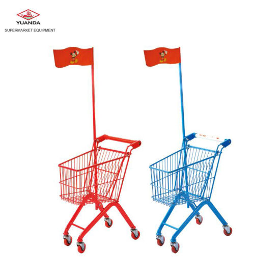 China Safety Kids Toys Car Shopping Cart Trolley For Supermarket