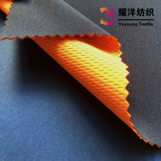 4 Way Stretch Fabric Bonded with Bird Eye Mesh Fabric TPU Inside for Tracksuit