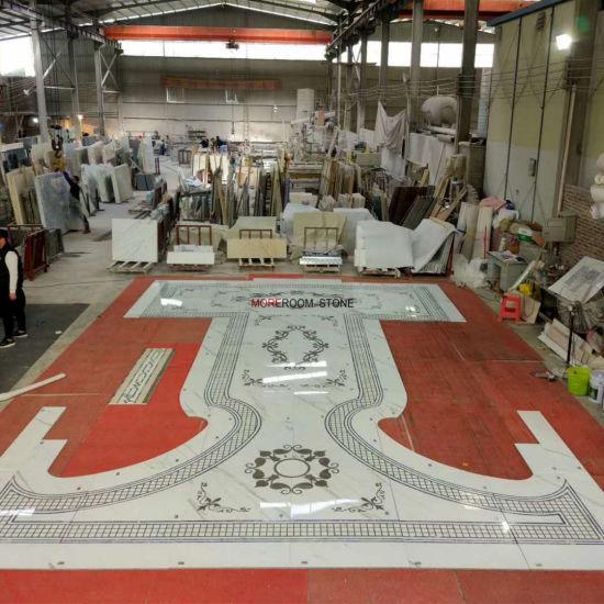 Lobby Decorative Uae Chic Marble Waterjet Medallion Flooring Pattern