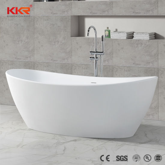 Faux Stone Two Person Shower Bath Tub Solid Surface Freestanding Bathtub 181205