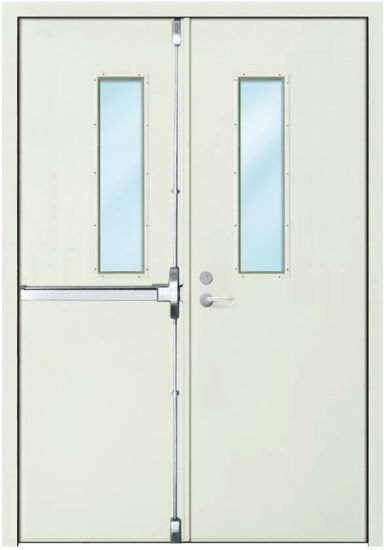 Fd120 External Steel Fire Rated Door With Vision Panel