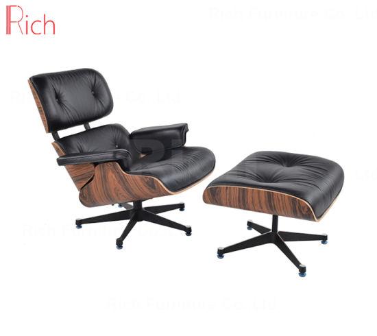 Modern Designer Furniture Replica Leather Walnut Charles Eames Lounge Chair