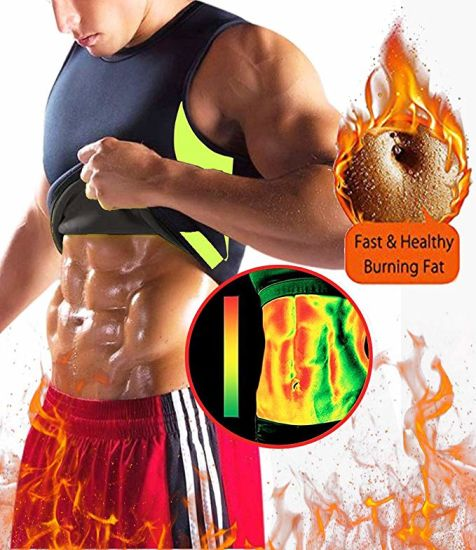 bd2aa58840b84 Super Stretch Gym Women Hot Neoprene Body Shaper Set Sauna Slimming Abdomen  Belly Belt Control Vest Waist