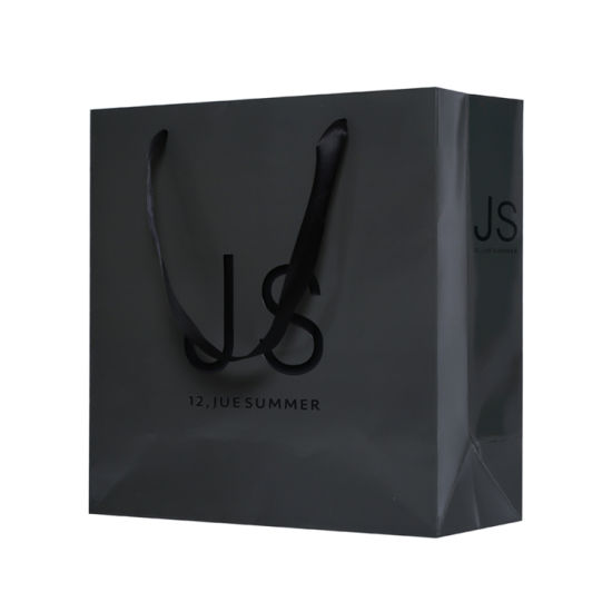 Promotional Advertising Logo Print Black Paper Bag pictures & photos