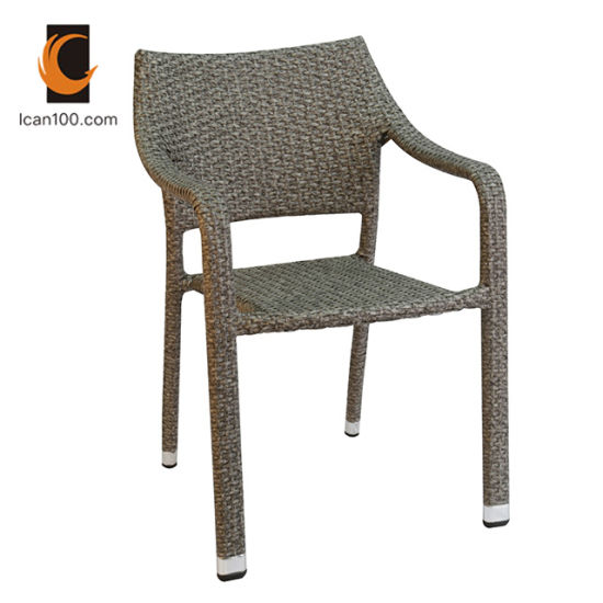 UV Resistant Wholesale Outdoor Restaurant Patio Arm Banquet Wicker Rattan Dining Chair (RC-06043)