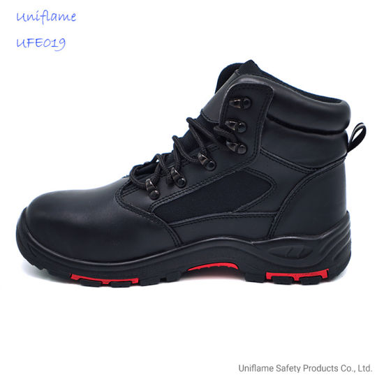 PU Sole En Genuine Leather Oil Rig Safety Shoes Ufe019steel Toe Safety Work Shoes for Men Oil Field Safety Shoes Work Boots with High Quality