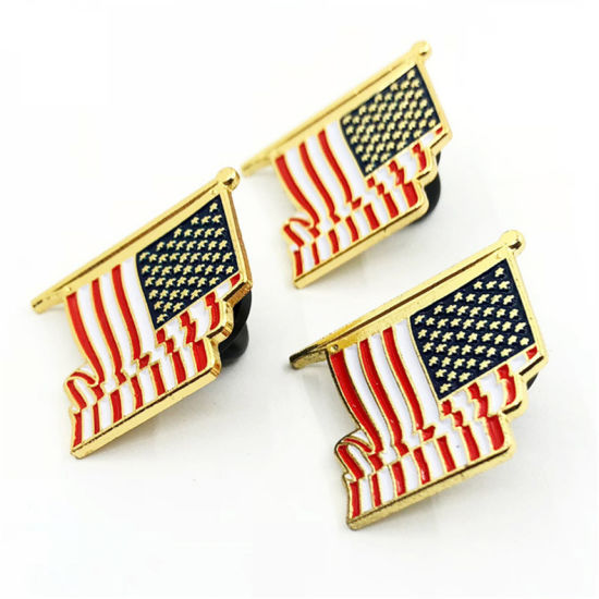 Hot Sell Custom Us Flag Enamel Lapel Pin Badge