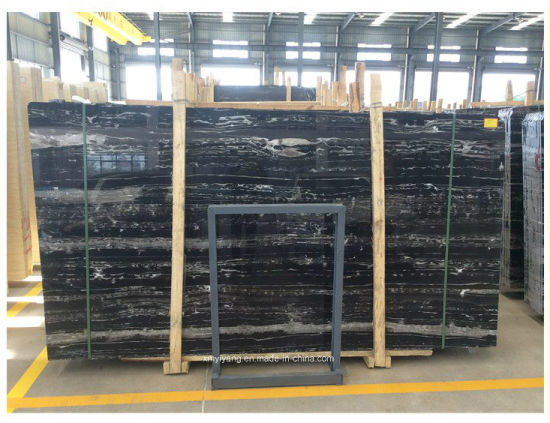 Black Silver Dragon Stone Marble for Decoration/Kitchen/Bathroom/Wall/Floor Tile