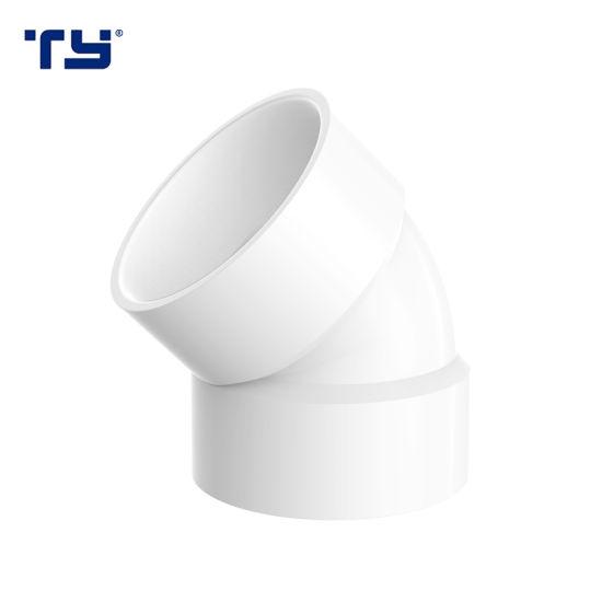 PVC Dwv Fittings Plastic 45 Deg Elbow Ty (ASTM D2665)