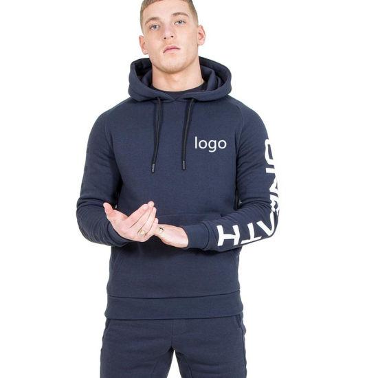 2019 Hot Sale Customized Men Jogging Suit /Men Sweatsuit/Custom Made Men Hoody Tracksuit Made in China