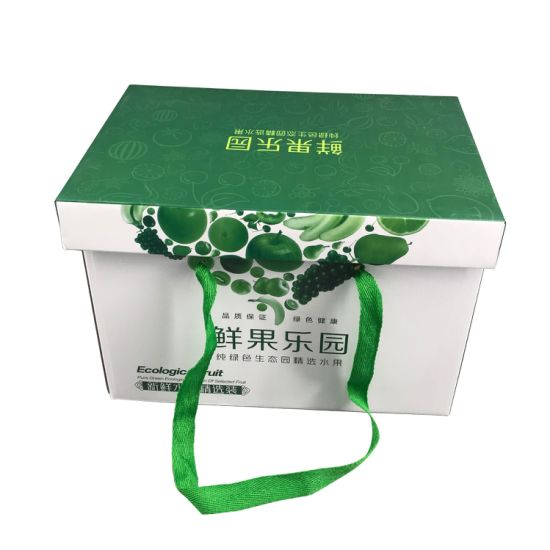 Wholesale Custom Fruit Paper Packaging Box with Handle