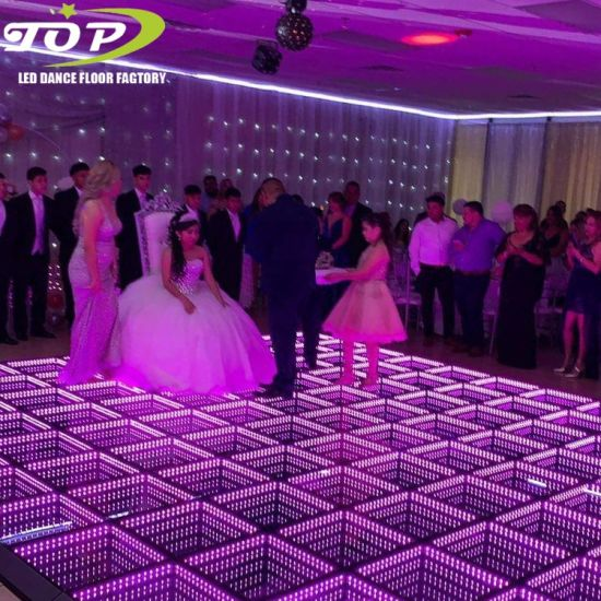 New Item Stage Portable Tap 3D Mirror LED Magnet Connection RGB Dance Floor Rental India