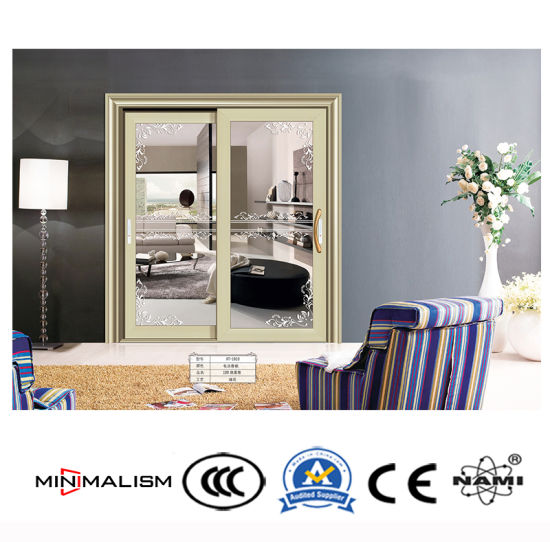 Italy Style Aluminium Sliding Door 2-3 Tracks for Security pictures & photos