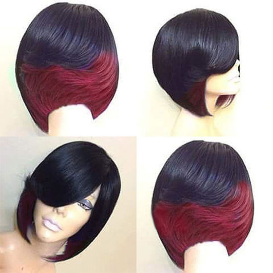 Short Curly Bob Synthetic Hair Wig Women Heat Fiber pictures & photos