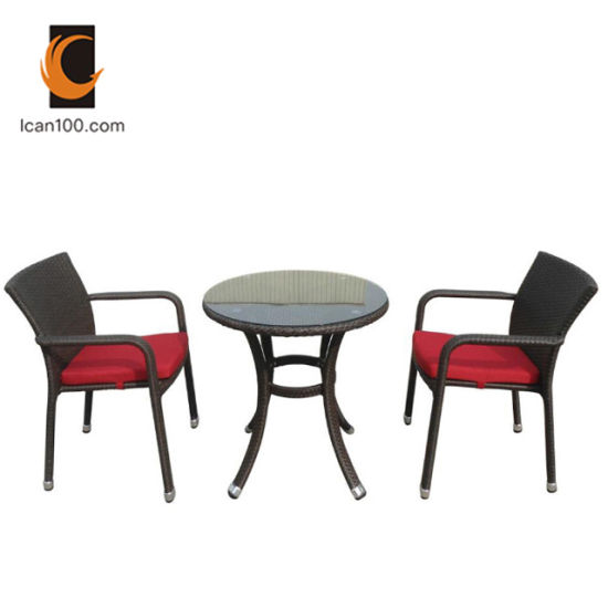 Eco-Friendly Material Outdoor Modern Luxury Aluminum Wicker Canteen Tables Dining Table Set (WS-06068)