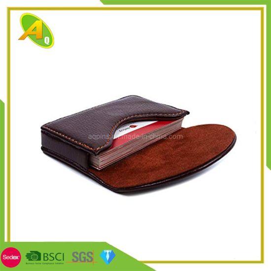 Fashion Business Credit Card Holder Metallic PU Leather Business Card Holder (01)