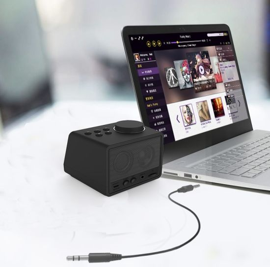 Factory Customize Fashion Bluetooth 4.2 2000mA Power Alarm Clock Bluetooth Speaker Dock X11