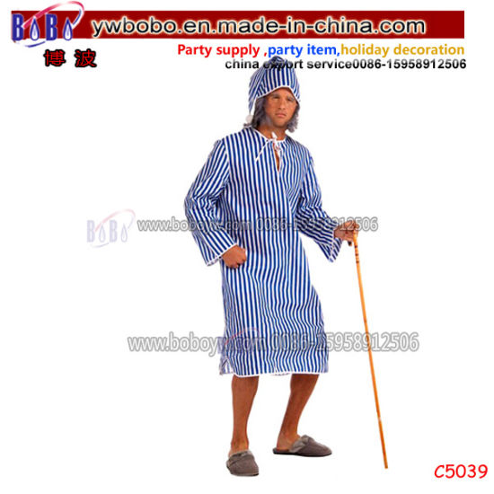 Wholesale Party Items Party Costumes Christmas Gift Halloween Carnival Scrooge Night-Shirt Adult Costume (C5039)