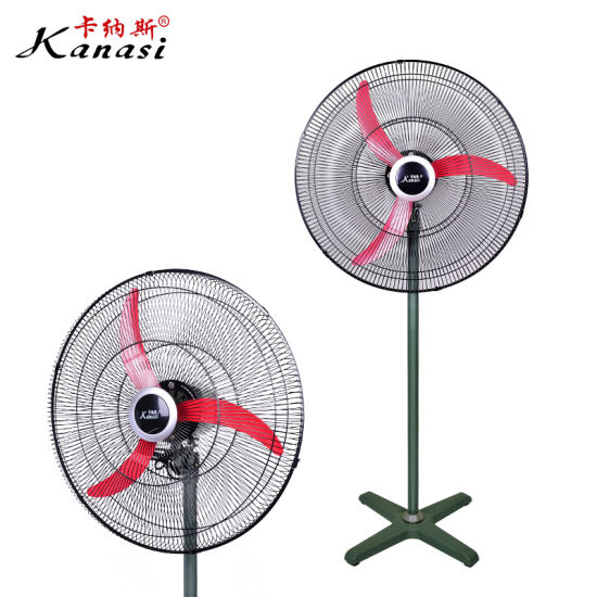 18'' Industrial Stand Fan with 3PCS Aluminum Blades and Foam Packing Motor