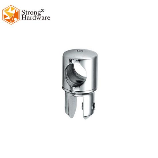 Glass Door Tube Zinc Alloy/SS304 Brass Material Accessories Polish/Matt Pipe Connector