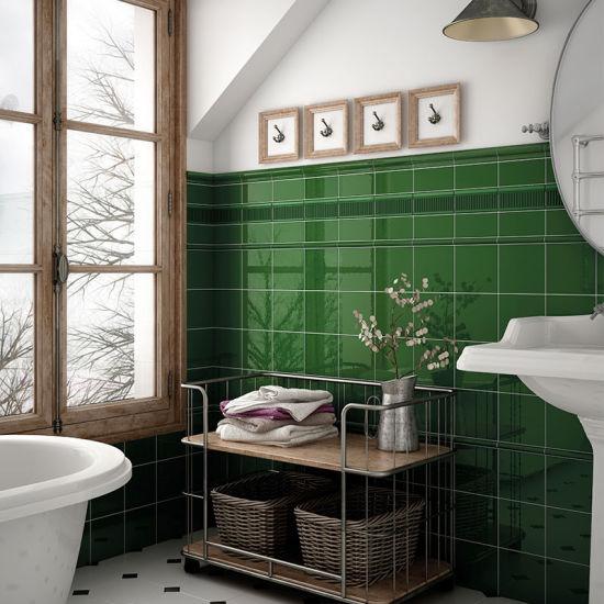 china 100x300 kitchen backsplash green