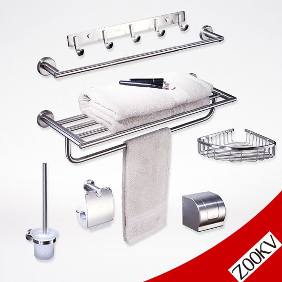 304 Stainless Steel Sanitary Ware Wall Mounted Washroom Restroom Bath Toilet Hotel Bathroom Set Accessories