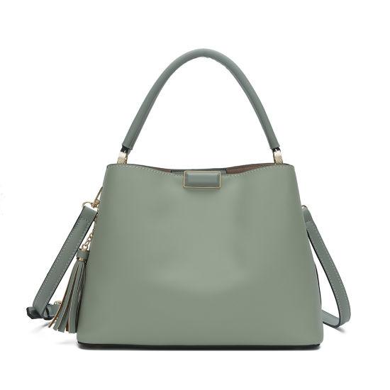 Fashion-Factory OEM-ODM- PU- Lady- Women Handbag Leather Shoulder Bag-Tote- Handbag