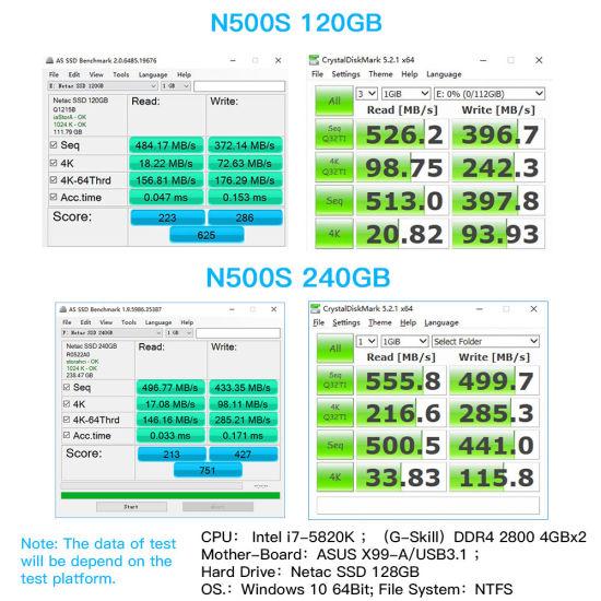China N500s SSD 240 GB 2 5′′ 480GB SSD 120GB 1tb Hard Disk