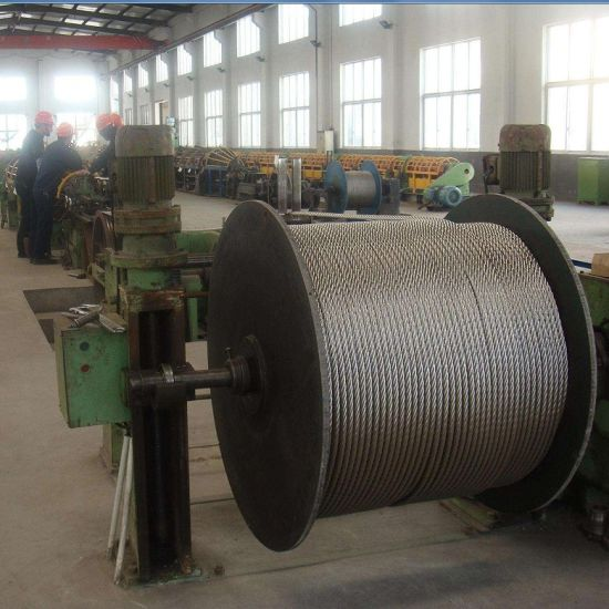China High Carbon Steel Wire Rod 19*7 12 mm Steel Wire Rope for ...