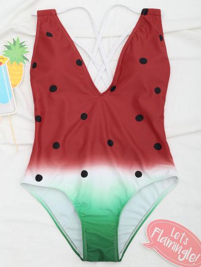 b6a67f945cd Female Watermelon Swimming Suits for Women Bathing Suits Monokini Beachwear