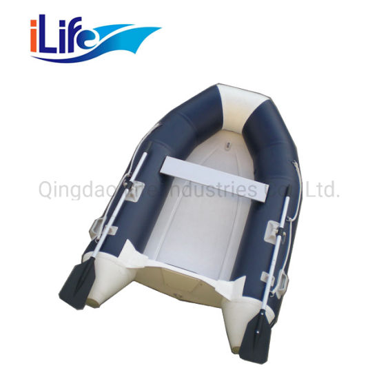 Ilife Custormized PVC/Hypalon Rigid Hull Firberglass Inflatable Rubber Fishing Sport FRP Boat with Ce