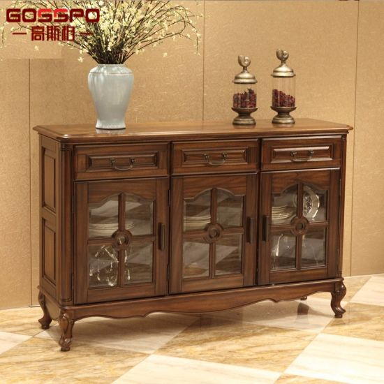 China Wood Glass Storage Cabinets With Doors And Shelves Gsp20 013