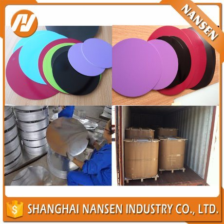 Hard Anodizing Aluminium Alloy Circle Plate for Cookware (1070 1050 1100 3003) pictures & photos