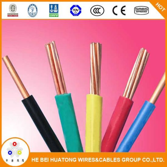 China Pvc Cover Copper Wire Thw Tw Awg 14 12 10 8 6 Solid
