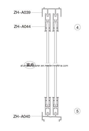 Zh-A49 Series Sash Aluminium Alloy Extrusion Profile for Door and Window pictures & photos